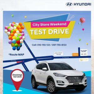 TEST DRIVE City Store weekend Hyundai