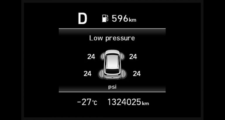 Tire pressure warning system (TPWS)
